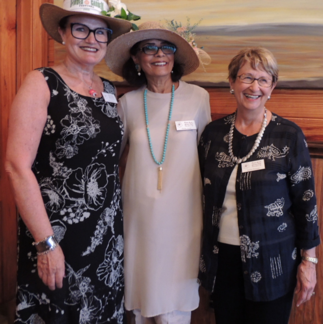 Co-presidents Pat Sandler and Vinita Jones with Treasurer Karen Noonan celebrating another successful year. The club met at the Captain's Table for their Spring Luncheon.